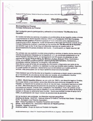 Invitación al Consejo Deliberante de Pinamar