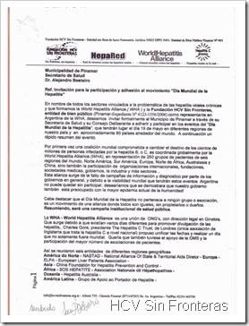 Invitación a la Secretaría de Salud de Pinamar, Dr. A. Besteiro