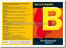 Folletos sobre hepatitis B, C e institucionales