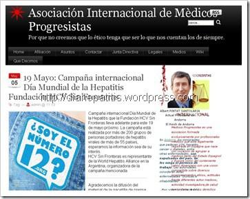 Asociación Internacional de Médicos Progresistas y el Día Mundial de la Hepatitis