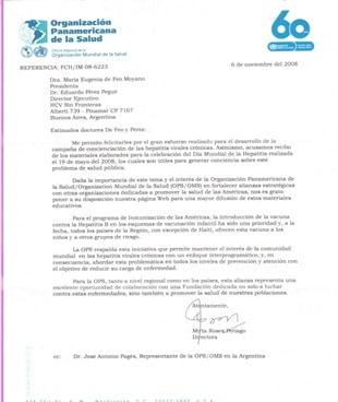 Apoyo de la OPS al Día Mundial de la Hepatitis 2009
