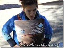 Fotos en Pinamar por el Día Mundial de la Hepatitis