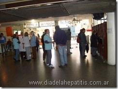 Fotos en La Plata por el Día Mundial de la Hepatitis 2009