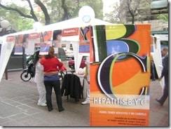Fotos de actividades del Programa Provincial de Hepatitis de Mendoza, en el marco del Día de la Hepatitis 2010