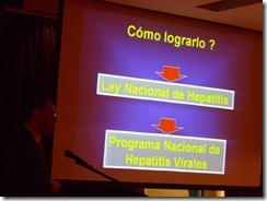 Fotos comienzo del Día Mundial de la Hepatitis 2010, Periodismo y Hepatitis B y C