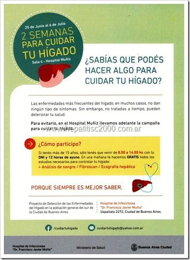 Campaña 2 semanas para cuidar tu hígado en el Hospital Muñiz