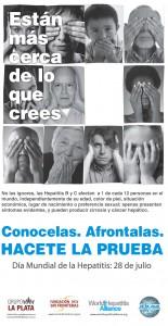 """Campaña en La Plata """"No ignoremos las Hepatitis B y C"""""""