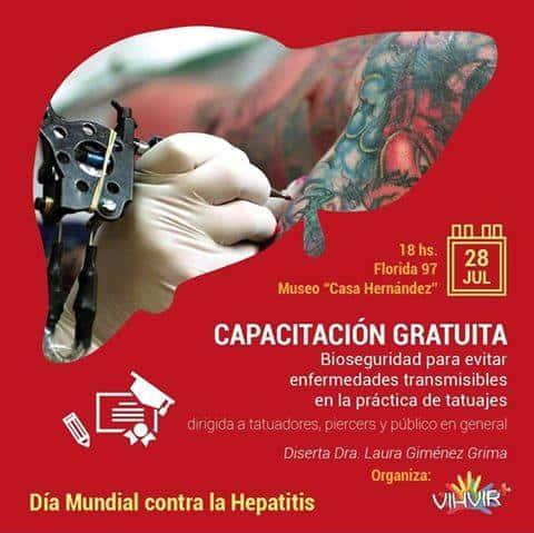 Capacitación tatuajes y piercings libres de hepatitis