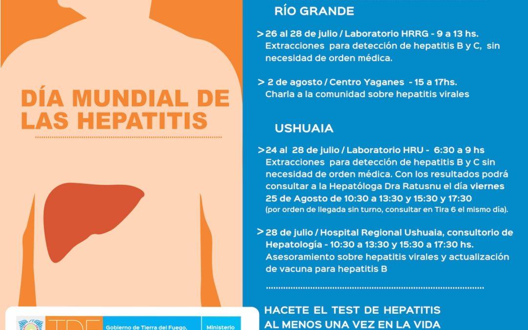 Ushuaia y Río Grande enfrentan a las hepatitis virales