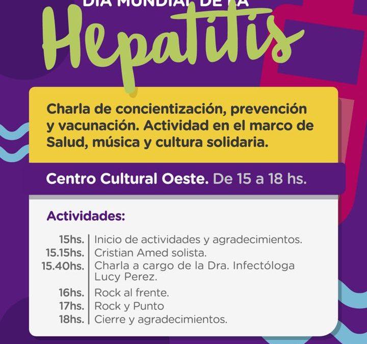 Neuquén. Prevención de hepatitis y festival de Rock